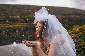 Bubble wedding veil