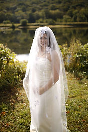 Embellilshed wedding veil