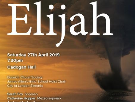 Seven Weeks to Go Until DCS's Elijah at Cadogan Hall!