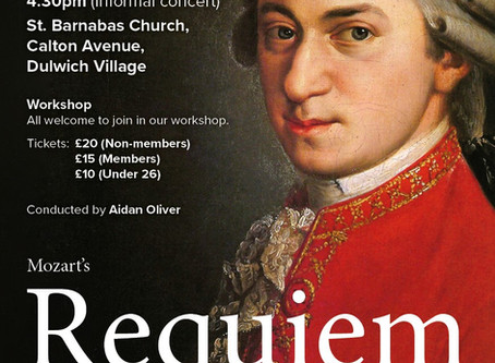 Mozart Requiem Come & Sing, March 2