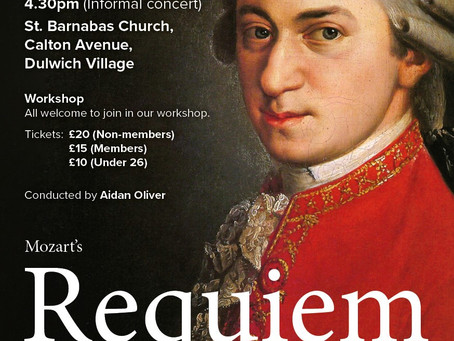 Mozart Requiem Come & Sing, March 2