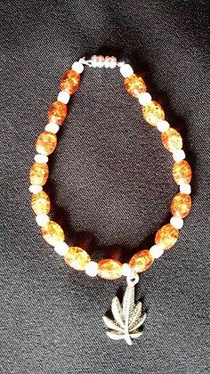 Amber and White Bracelet