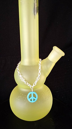 Blue Peace Sign Bong Bling