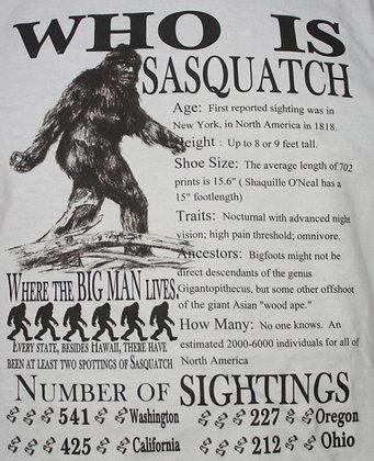 Who is Sasquatch?   Size XL