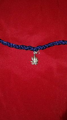 Dotties Navy Ribbon Hemp Bracelet