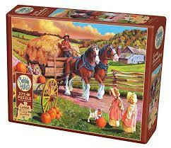 Hay Wagon 275pc Cobble Hill Jigsaw Puzzle