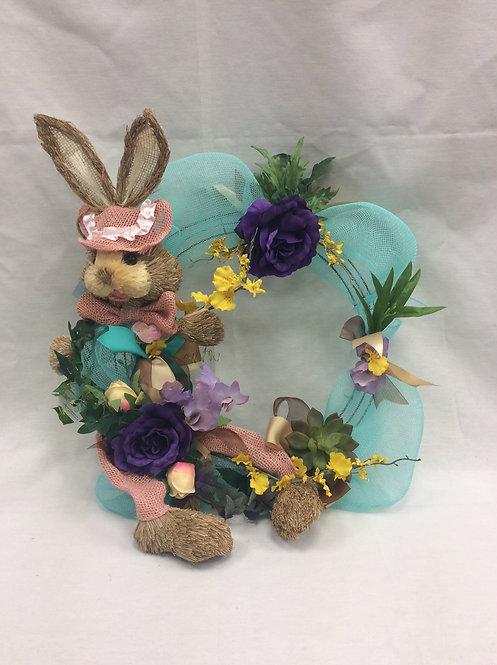Pink Bunny Silk Wreath