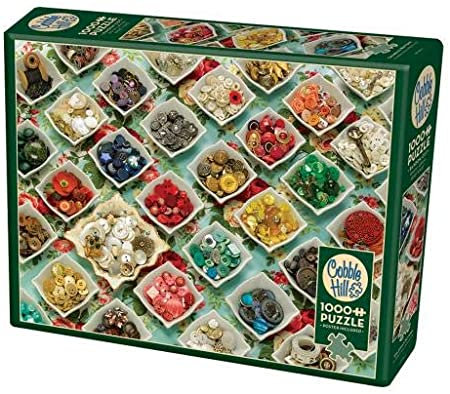 Grandma's Buttons 1000pc Cobble Hill Jigsaw Puzzle