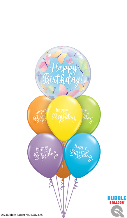 Bubble Balloon Bouquet - Birthday Butterflies & Best Wishes