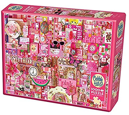 Pink 1000pc Cobble Hill Jigsaw Puzzle