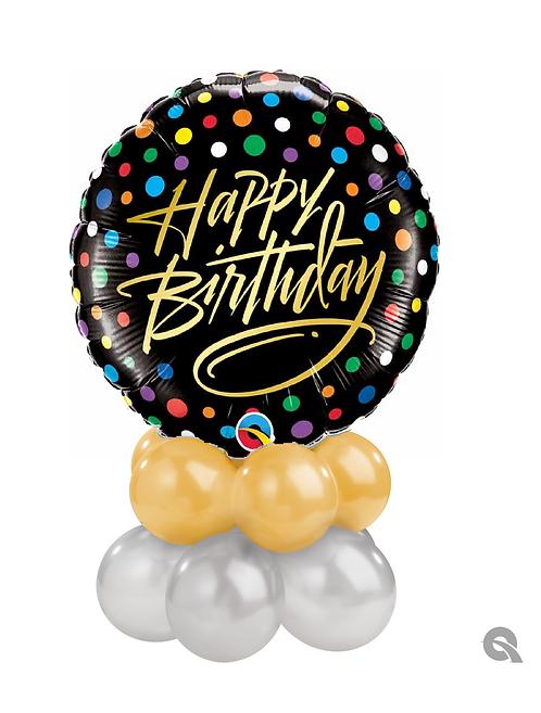 Gold Script Birthday Table Topper