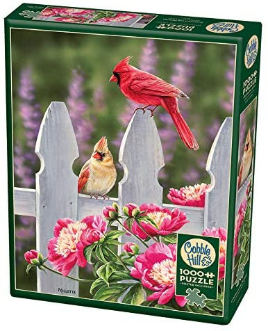 Cardinals and Peonies 1000pc Cobble Hill Jigsaw Puzzle