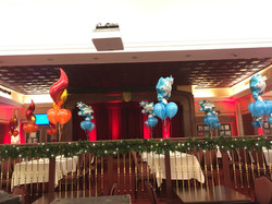 Fire n' Ice balloon Center Pieces