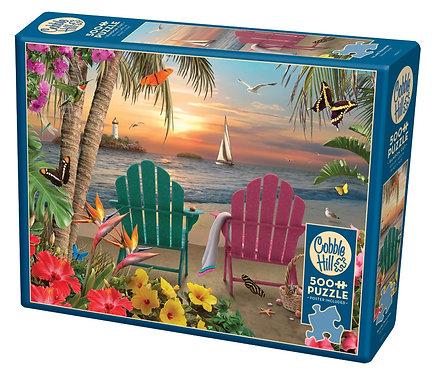 Island Paradise 500pc Cobble Hill Jigsaw Puzzle