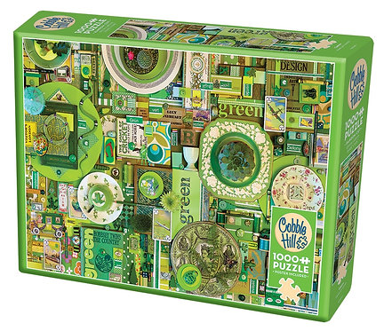 Green 1000pc Cobble Hill Jigsaw Puzzle