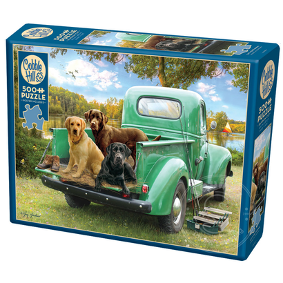 Let's Go Fishing 500pc Cobble Hill Jigsaw Puzzle