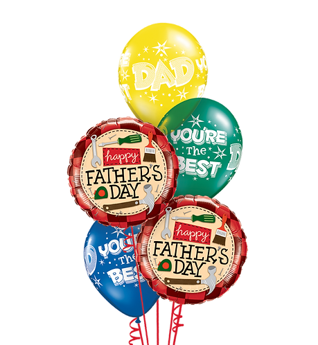 Classic Balloon Bouquet - Happy Father's Day Tools