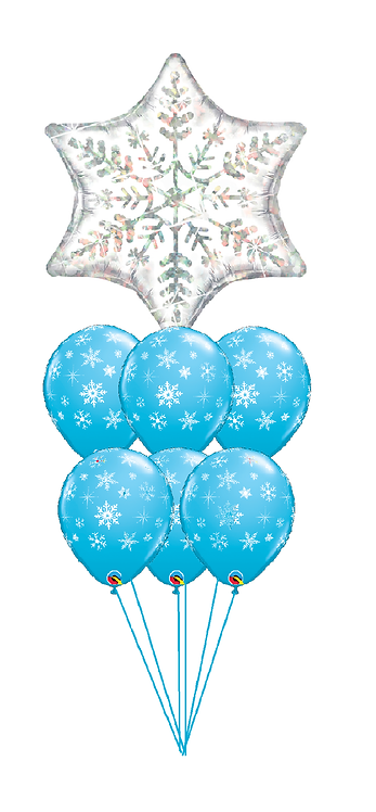 Awesome Balloon Bouquet - Winter Snowflake Fun