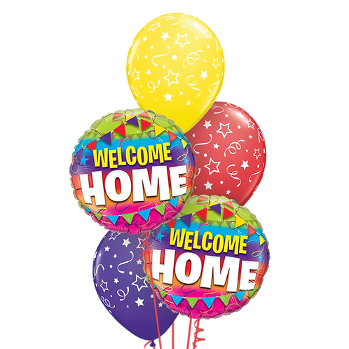Classic Balloon Bouquet - Welcome Home
