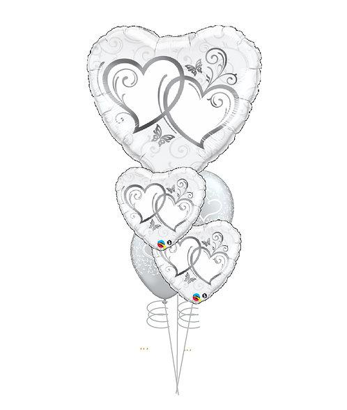 Cheerful Balloon Bouquet - Silver Love