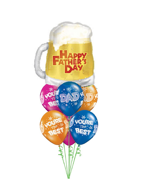 Awesome Balloon Bouquet - Happy Father's Day Beer