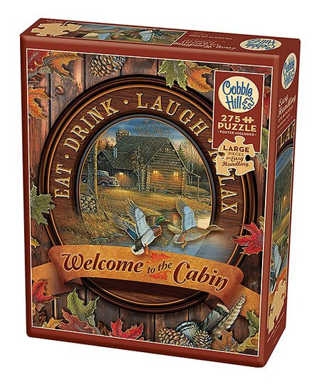 Welcome to the Cabin 275pc Cobble Hill Jigsaw Puzzle