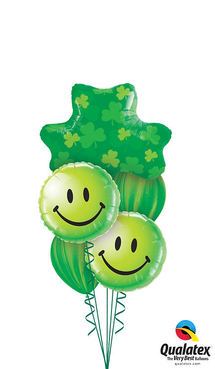 Cheerful Balloon Bouquet - Luck of the Irish