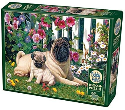 Pug Family 1000pc Cobble Hill Jigsaw Puzzle