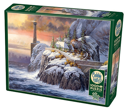 Winter Lighthouse 1000pc Cobble Hill Jigsaw Puzzle