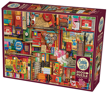 Vintage Art Supplies 2000pc Cobble Hill Jigsaw Puzzle