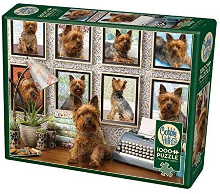 Yorkies Are My Type 1000pc Cobble Hill Jigsaw Puzzle