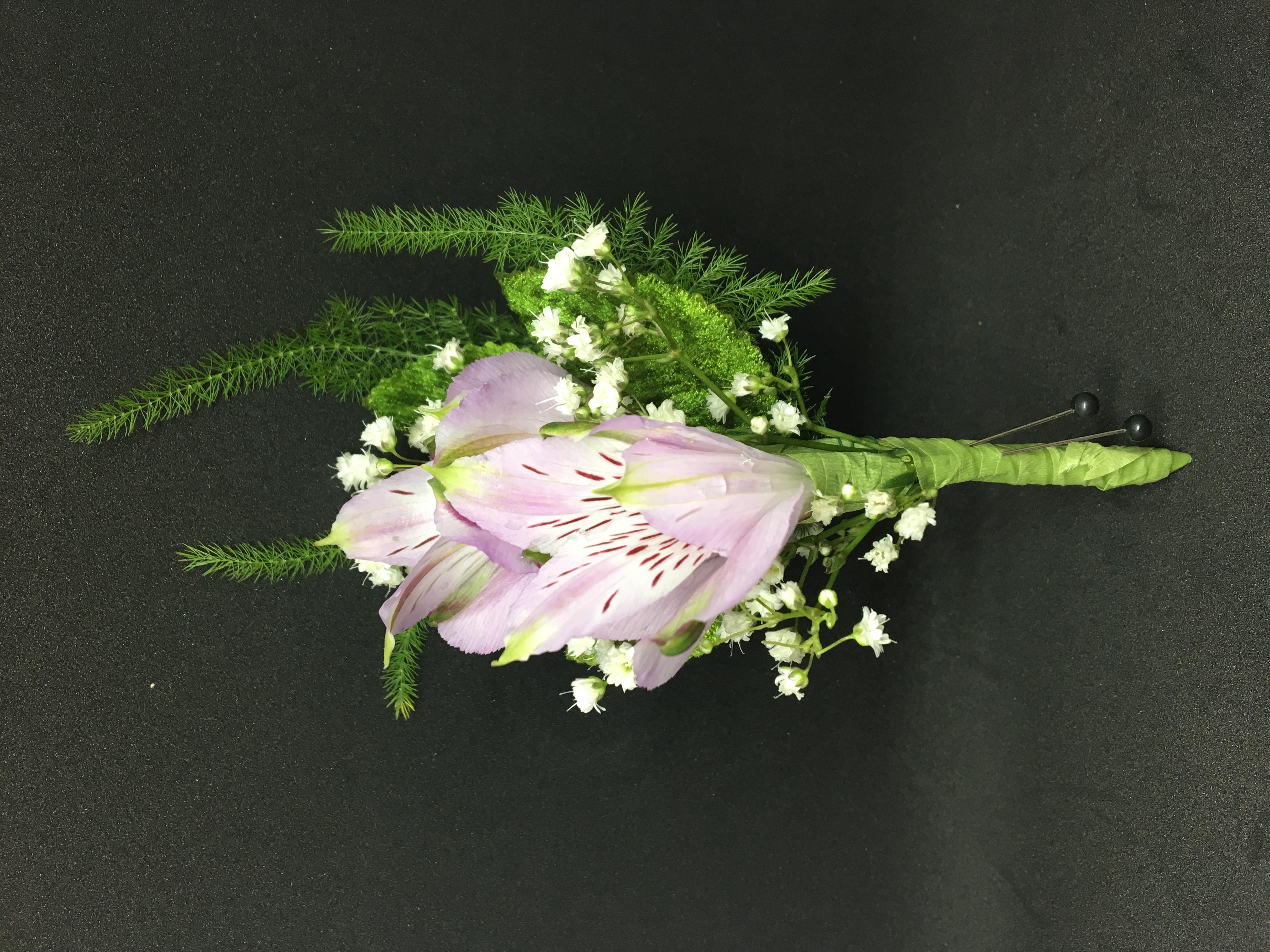 Lavender Alstromeria Boutonniere