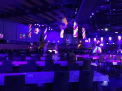 Neon Balloon columns