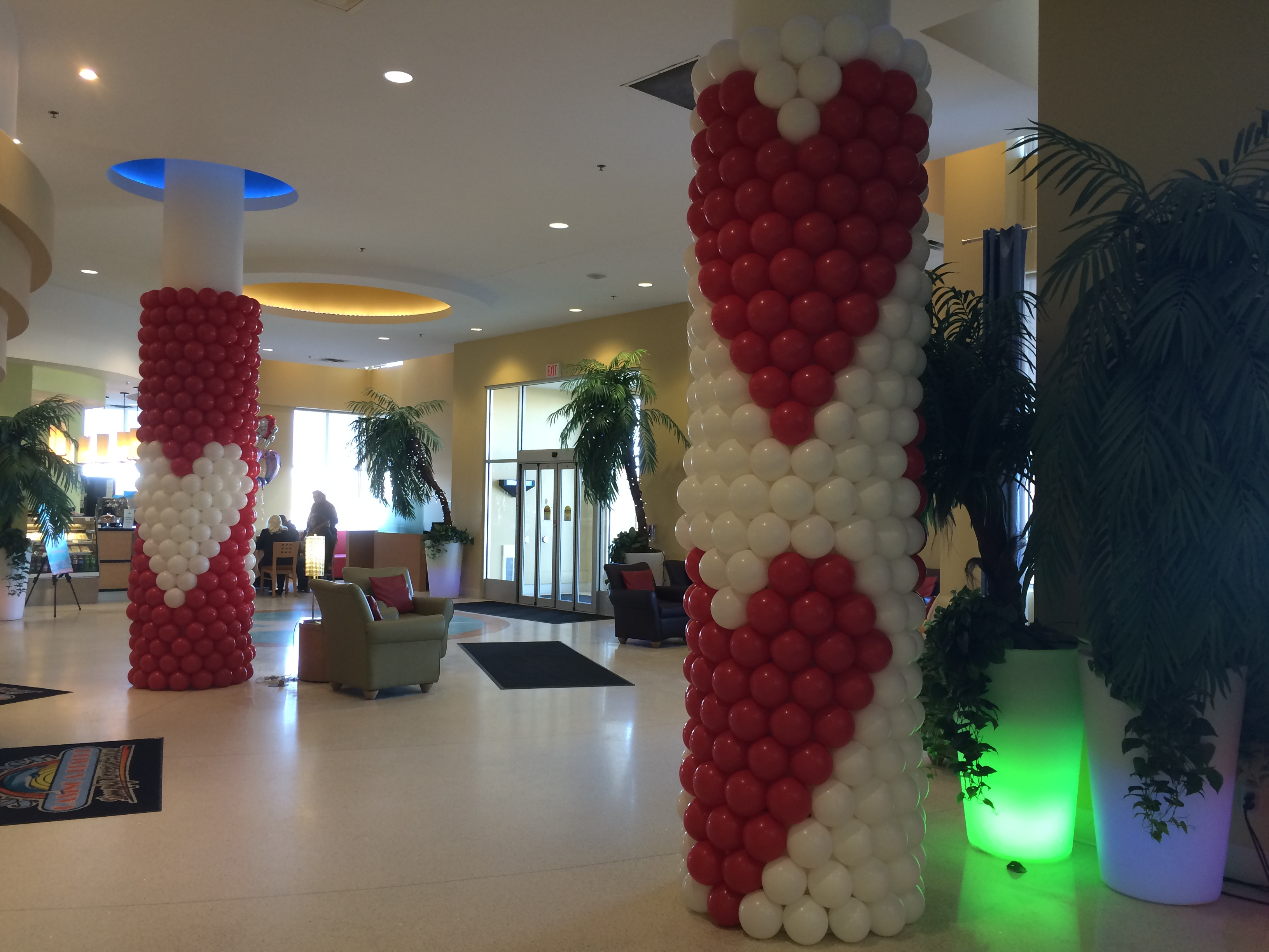 Valentine's Day Pillar Wrap Balloons