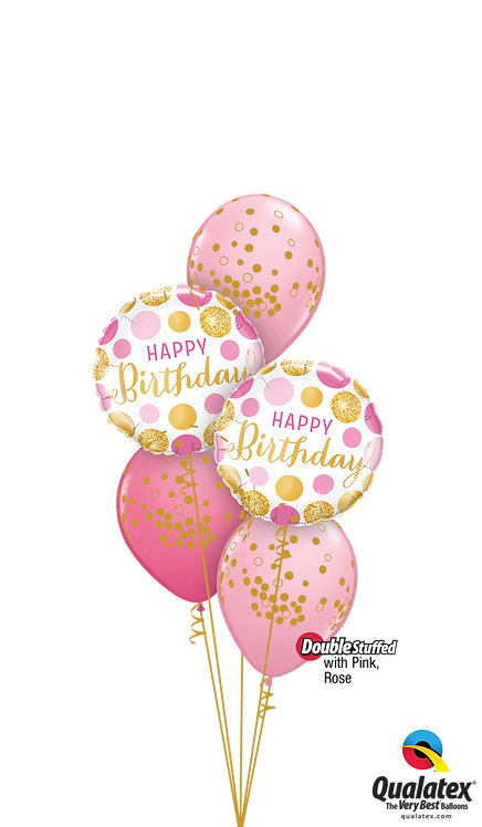 Classic Confetti Balloon Bouquet - Glittering Polka Dots