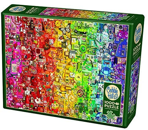 Colourful Rainbow 1000pc Cobble Hill Jigsaw Puzzle