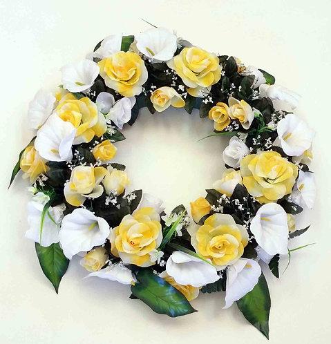 "22"" Silk Yellow Wreath 1889"