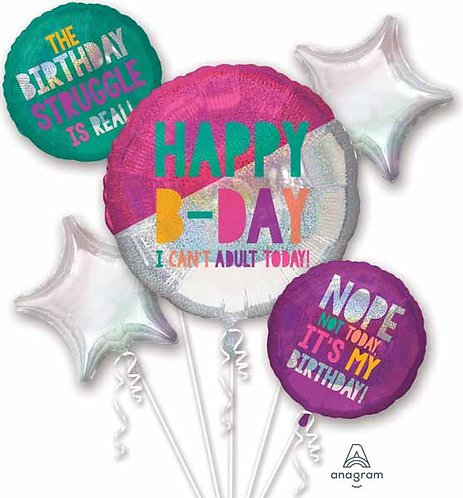 Super Fun Foil Bouquet - Young & Fabulous Birthday