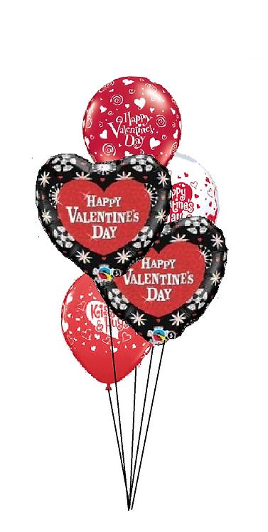 Classic Balloon Bouquet - Happy Valentine's Day