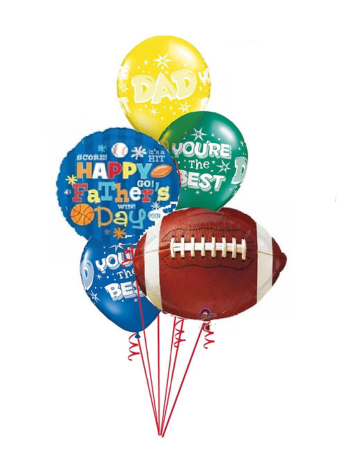 Classic Balloon Bouquet - Sports Dad