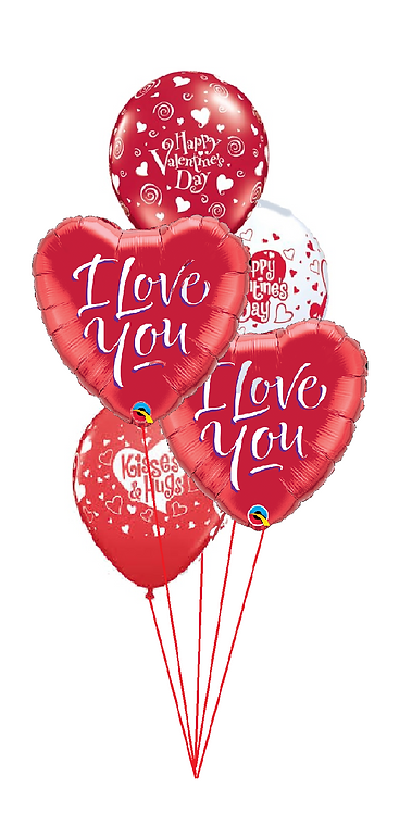 Classic Balloon Bouquet - I Love You Script