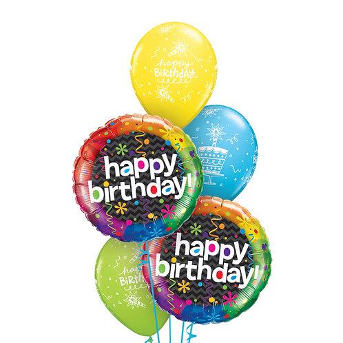 Classic Balloon Bouquet - Birthday