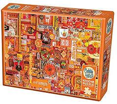 Orange 1000pc Cobble Hill Jigsaw Puzzle