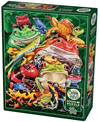Frog Buisness 1000pc Cobble Hill Jigsaw Puzzle