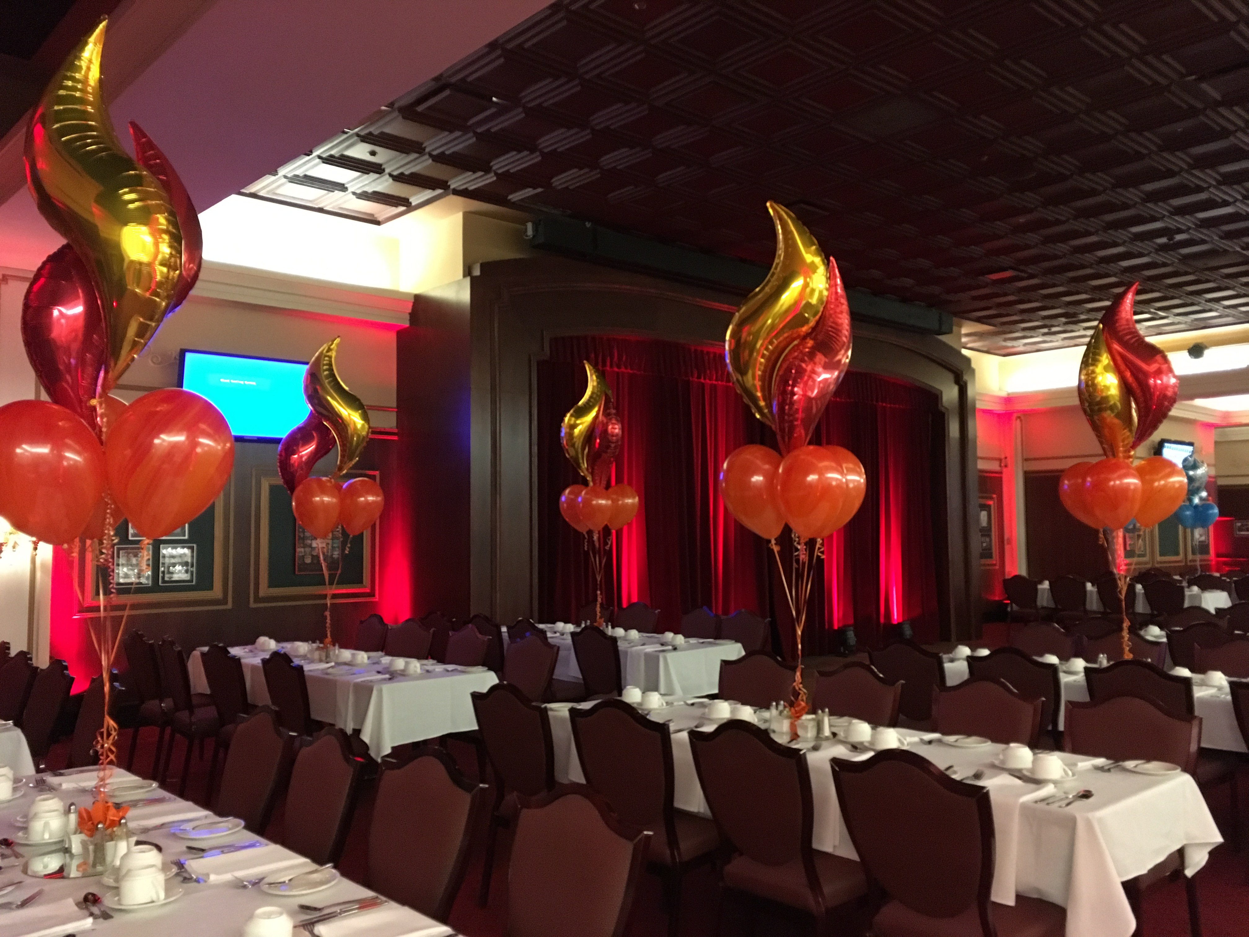 Fire Balloon Bouquets