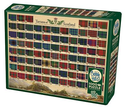Tartans of Scotland 1000pc Cobble Hill Jigsaw Puzzle