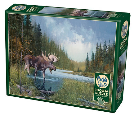 Moose Lake 1000pc Cobble Hill Jigsaw Puzzle