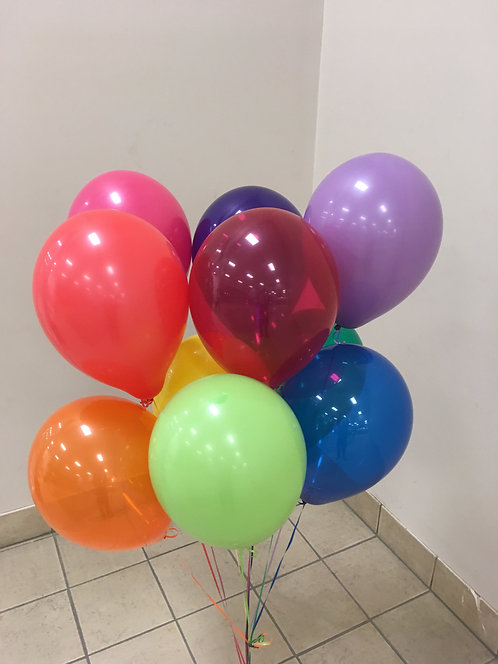 Two Bunches of 10 Balloons