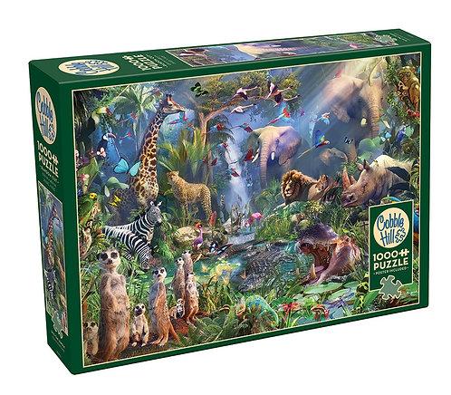 Into the Jungle 1000pc Cobble Hill Jigsaw Puzzle