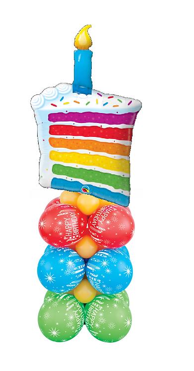 Rainbow Cake Super Square Column